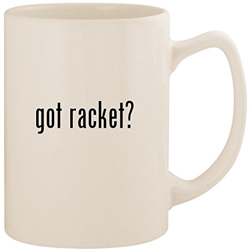 got racket? - White 14oz Ceramic Statesman Coffee Mug Cup