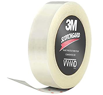 VViViD 3M Clear Scotchgard Paint Protector Vinyl Wrap 2 Inch Wide Tape Roll 2 Inch x 48 Inch
