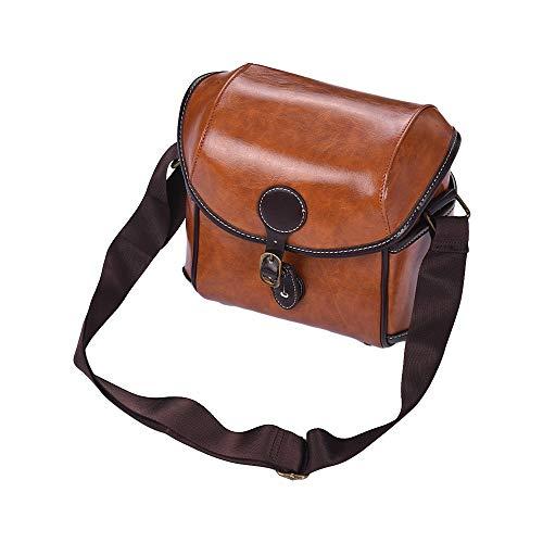 Docooler Vintage PU Leather DSLR Camera Bag Case Shoulder Bag for Sony A6500 A7R A9 A7 II A7R-M3 A6000 A6300 Nex-5N 5R 5T