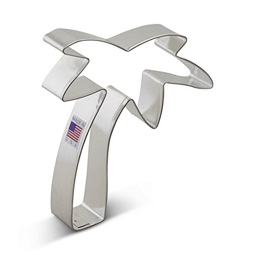 Price comparison product image Ann Clark Palm Tree Cookie Cutter - 4.75 Inches - Tin Plated Steel