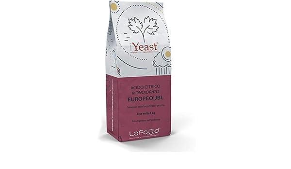 Ácido Cítrico monoidrato - E330 - Food Grade - Uso Alimenticio - jungbunzlauer - 1 kg: Amazon.es: Hogar