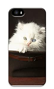 iPhone 5 5S Case Cute Pets White Cat 3D Custom iPhone 5 5S Case Cover