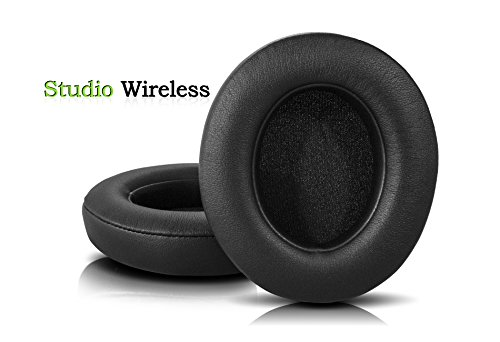 Beats Replacement Ear Pads By Wicked Cushions – Compatible with Studio 2.0 Wired / Wireless AND Studio 3 Over Ear Headphones by Dr. Dre ONLY ( DOES NOT FIT SOLO ) | Black