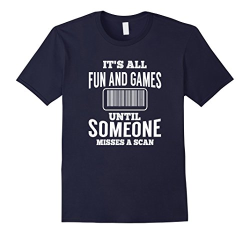 Mens All Fun Until Someone Misses A Scan Funny Mail Carrier Shirt XL Navy