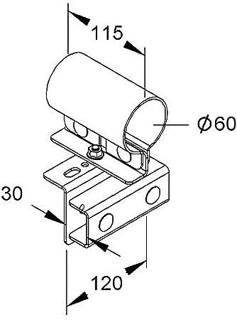 Niedax Rail Connector Holder Mihk 6030 F Pipe Clamp Amazon Co Uk