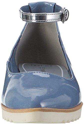 Marco Tozzi Women's 24215 Ballet Flats Blue (Denim Comb 853) pQBSB6akhZ