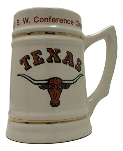 1983 SW Conference Champs Texas Longhorns Ltd Edition Ceramic Stein Mug 5 3/4