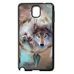 Samsung Galaxy Note 3 N9000 2D DIY Phone Back Case with wolf dream catcher Image