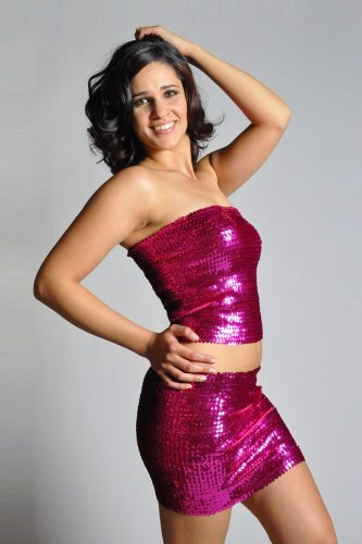 5dc03daae5 Amazon.com   Women s Sexy Sparkly Sequin Tube Top or Mini Skirt - FUCHSIA    Other Products   Everything Else