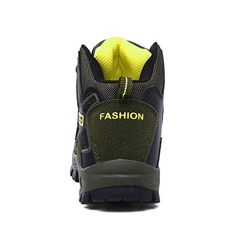 Enllerviid Vrouwen Mannen Wandelen Enkellaarzen Outdoor Trekking Sneakers Wandelschoenen 8670 Groen
