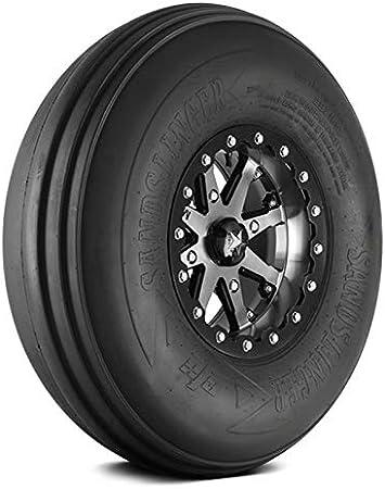 14 Paddle Rear Tire Bundle- Four EFX Sand Slinger Tires Mounted on Four Tusk Teton Beadlock Wheels 4+3 Offset, Smoke Polaris RZR General Ranger 1000 Turbo 29