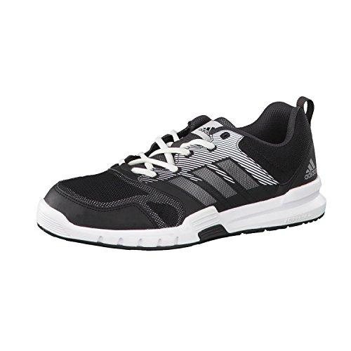 Adidas Essential Star 3 M, Scarpe da Ginnastica Uomo, Nero (Negbas/Plamet/Neguti), 46 EU