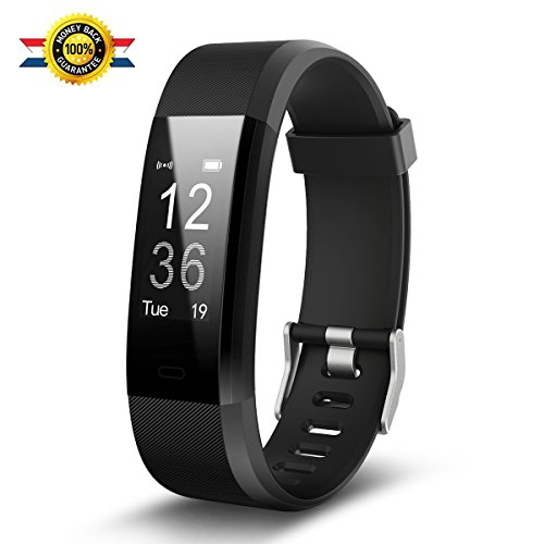 【2018 NEW】Fitness Watch - Fitness Tracker - Luluking YG3 Plus Activity Tracker With Heart Rate Monitor - Step Counter - GPS Tracker - Waterproof Smart Wristband for Android and Ios (black)