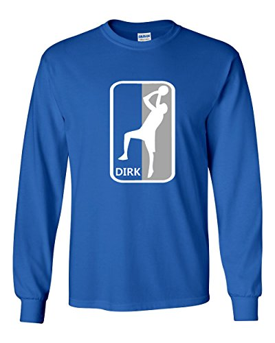 Steve Nash Shirt - The Silo LONG SLEEVE BLUE Dallas