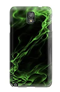 Series Skin Case Cover For Galaxy Note 3 Green Abstract