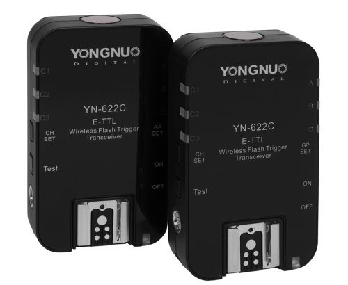 Yongnuo 1 x YN-622C-TX + 2 x YN-622C RX E-TTL LCD Wireless Flash Controller Wireless Flash Trigger Transceiver For Canon EOS DSLR ()