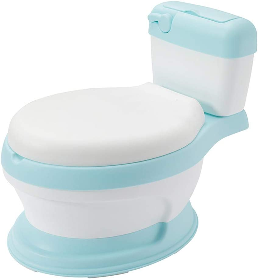 Baby Potty Portable Training Toilet Seat with Backrest and Splash Guard Padded Cushioned Seat Ring Training Potty for Boys and Girls Pink