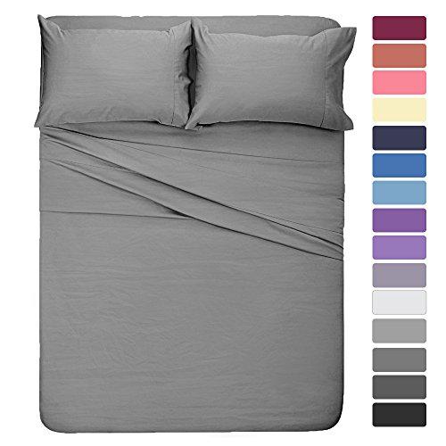 king bed sheets gray - 8