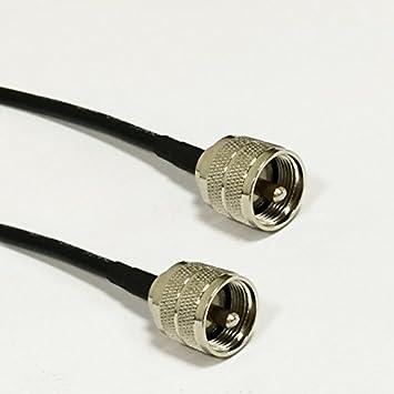 UHF macho a UHF macho PL259 RF Cable coaxial RG58 50 cm para WiFi router inalámbrico: Amazon.es: Electrónica