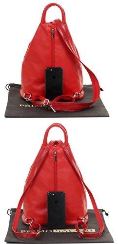 étui protecteur à Italienne douce dos à sac sac Rouge nbsp;Comprend supérieure marque sac dos bandoulière Napa cuir poignée à HZqn7Har