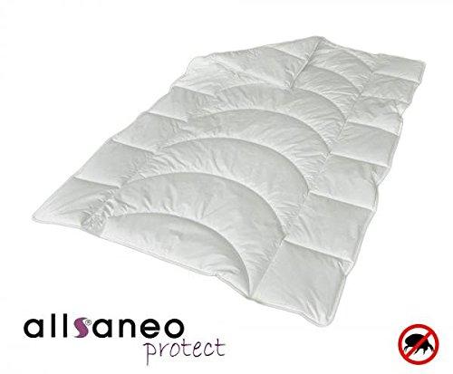 Allsaneo Protect Steppbett 135x200 cm mit allergendichtem Bezug aus Evolon, Bettdecke für Allergiker mit Integriertem Milbenschutz