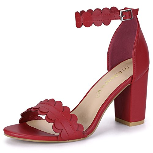Scalloped Sandals Women K Allegra Strap Red Ankle EHacvq