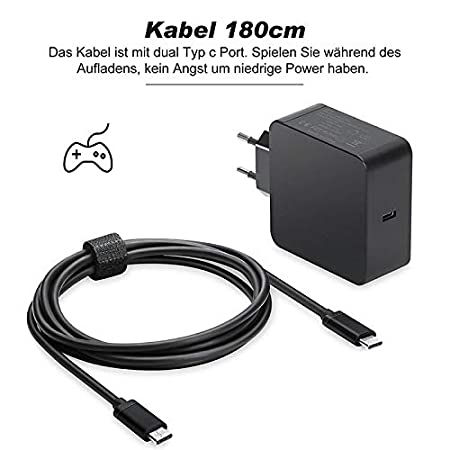 Amazon.com: 65W 45W 20V 3.25A Type C PD Fast Charger USB C ...