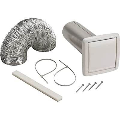 "Broan WVK2A 4"" Round Duct Wall Ducting Kit for Bathroom Ventilation Fans,"