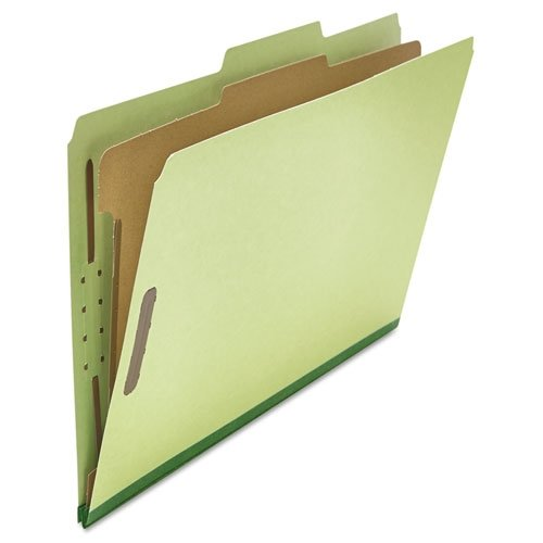 (Universal 10261 Pressboard Classification Folder, Legal, Four-Section, Green, 10/Box)