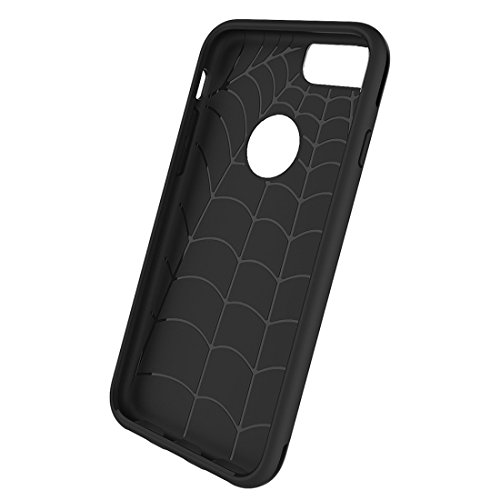 Phone Taschen & Schalen Für iPhone 6 Plus / 6s Plus, Simple Brushed Texture 2 in 1 PC + TPU Kombination Schutzhülle ( Color : Black )