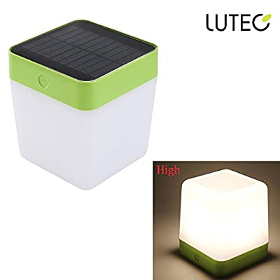 LUTEC Outdoor Indoor Solar Rechargeable LED Lantern Camping Lantern