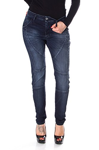 PLEASE FRAUEN JEANS HIGH WAIST SKINNY STRETCH SCHLANK P61ND09ET6 P61 Dunkle Denim LrnGDv