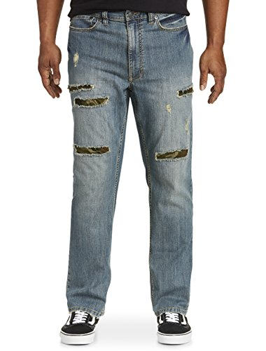 True Fit Camo (True Nation by DXL Big and Tall Athletic-Fit Camo Rip-and-Repair Jeans)