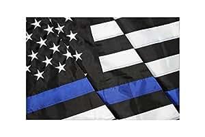 Thin–Heroes Edition–de Bandera de línea azul bordado poliéster Oxford de alta calidad 3'x 5'