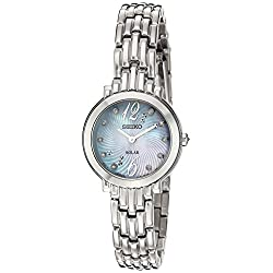 Seiko Women's Tressia Japanese-Quartz Watch with Stainless-Steel Strap, Silver, 10 (Model: SUP353)