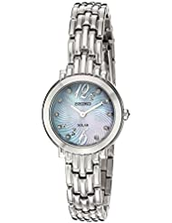 Seiko Womens Tressia Quartz Stainless Steel Casual Watch, Color:Silver-Toned (Model: SUP353)