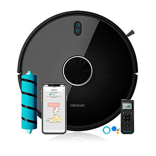 Cecotec Robot Aspirador Conga Serie 4090 2700 Pa Gestión y Edición de Habitaciones App con hasta 5 Mapas Aspira Barre Friega y Pasa la Mopa Alexa y Google Home apto para Wi Fi 5GHz