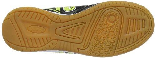 Conway 710105 Unisex-Kinder Hallenschuhe Schwarz (black/yellow/white)