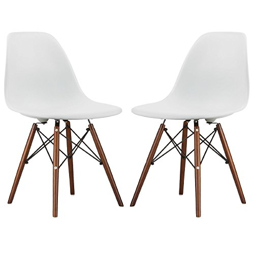 Nicer Furniture® Set of Two (2) White - Eames Style for sale  Delivered anywhere in Canada