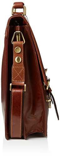 Visconti X Grande Vintage Collection Veg Tan–Maletín de piel bolso bandolera canela