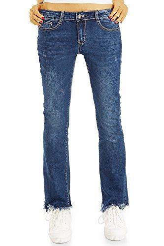 bestyledberlin - Jeans - Bootcut - Femme Bleu Fonc