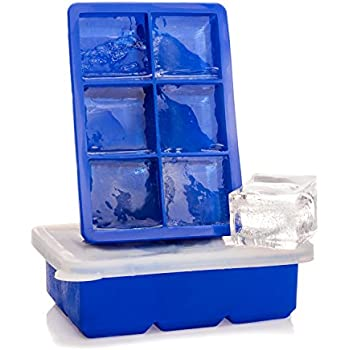 Amazon Com Epar 233 Large Ice Cube Tray With Silicone Lids