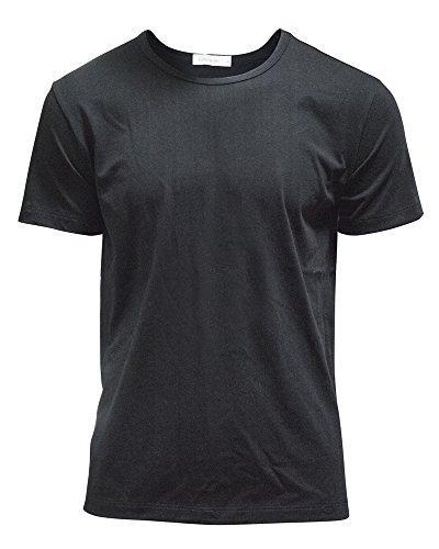 - Gootuch Mens Cotton Basic Pure Color Slim Fit Crewneck T-Shirt (L, Black)