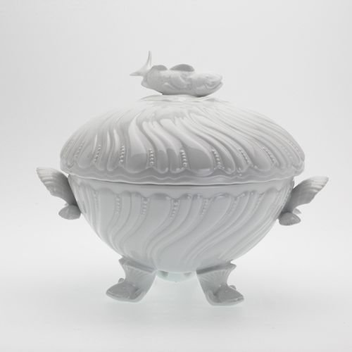 Limoges Fish - Royal Limoges Ocean White Footed Fish Soup Tureen