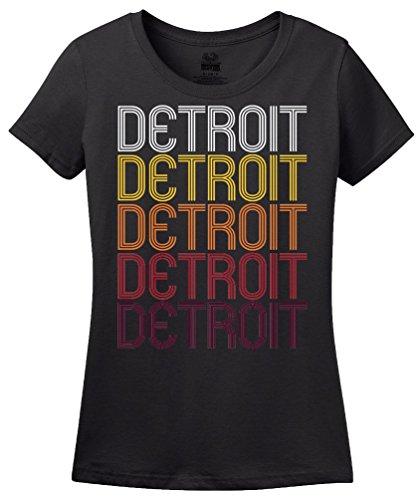 Detroit, MI | Retro, Vintage Style Michigan Pride T-shirt