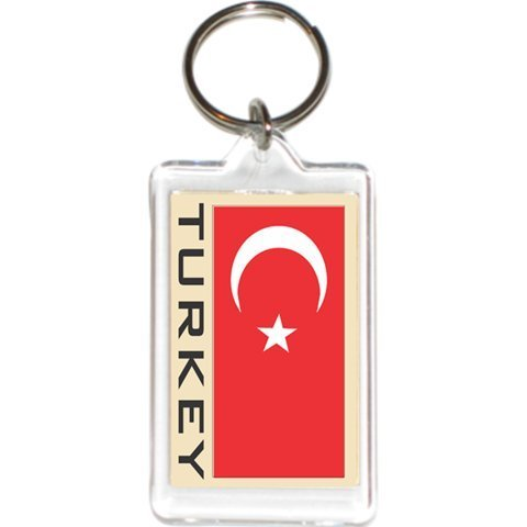 Acrylic KeyChains KeyRings Holders - Europe 2 (1-Pack, Country: Turkey)