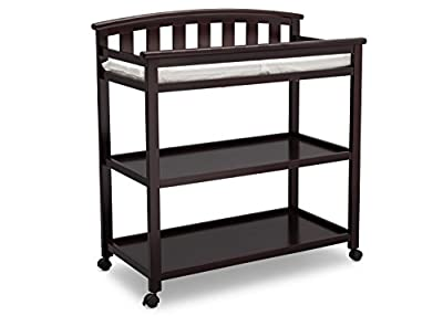 Delta Children Arch Top Changing Table with Casters, Grey