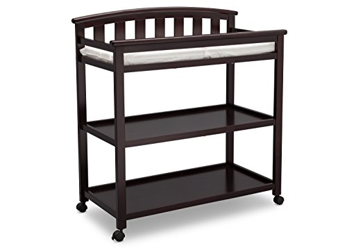 Delta Children Arch Top Changing Table with Casters, Dark - Brace Caster