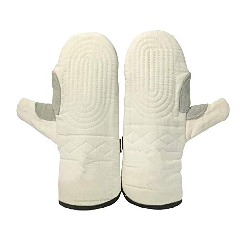 Xt Oven gloves Heat Resistant Gloves, Thick Cotton Gloves for Working At High Temperature, BBQ,Baking, Electric Welding, Kitchen- 1 Pair Large from xt