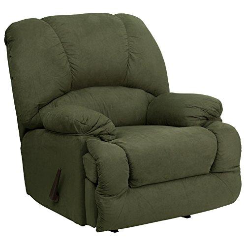 Green Rocker Recliner - Flash Furniture Contemporary Glacier Olive Microfiber Chaise Rocker Recliner